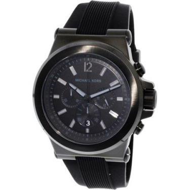 Hàng Chính Hãng Michael Kors Dylan Silicone Black Watch 2021**