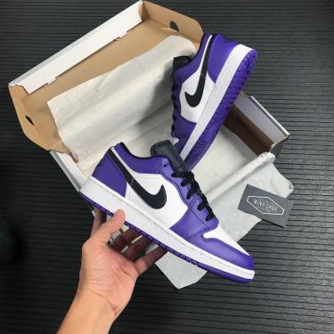 "Giày Nike Air Jordan 1 Low ""Court Purple"" GS  ** [553560 500]"