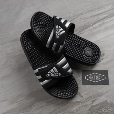 thu-gian-thoai-mai-dep-adidas-adissage-slides-black-silver-logo-g28843