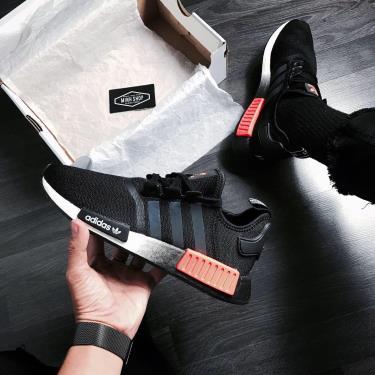 Hàng Chính Hãng Adidas NMD R1 Black/White/Solar Red 2020**