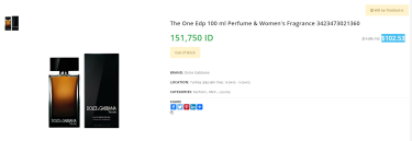 Nước hoa The One for men EDP - Dolce & Gabbana  [3423473021360]
