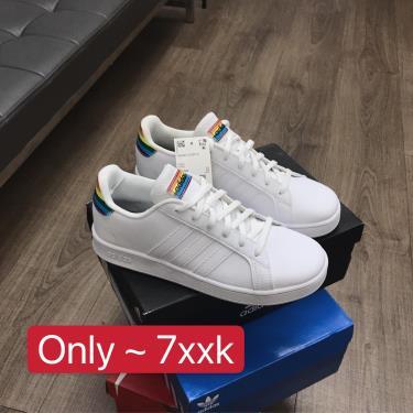 Sale~~Hàng Chính Hãng Adidas Grand Court White/Mutil 2021** <apdung CK> FY6467