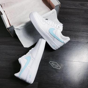 Hàng Chính Hãng Nike Air Force 1 White/Baby Blue CUST 2020**
