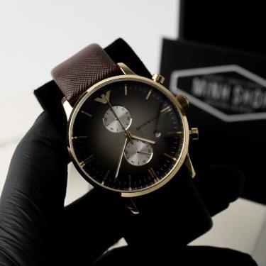 Hàng Chính Hãng  Emporio Armani Chronograph Brown/Gold Watch 2020**