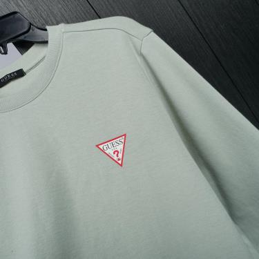 Hàng Chính Hãng Áo Sweater Guess Classic Logo Small Mint 2021**