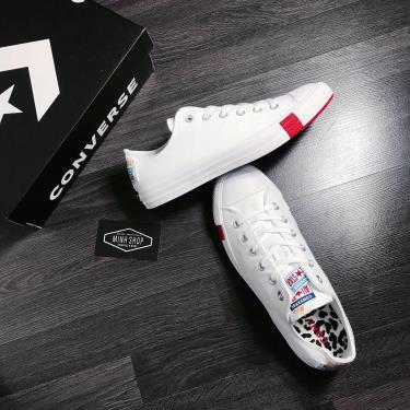 Hàng Chính Hãng  Converse Chuck Taylor All Star Twisted Classic Logo Play  White/Red 2020**