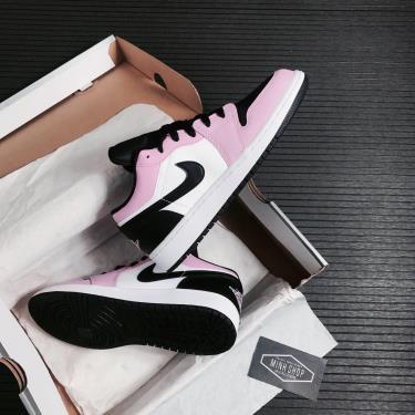 🔝 Màu Trend 🔝Giày Nike Air Jordan 1 Low 'White Light Arctic Pink' (GS)** [554723 601]