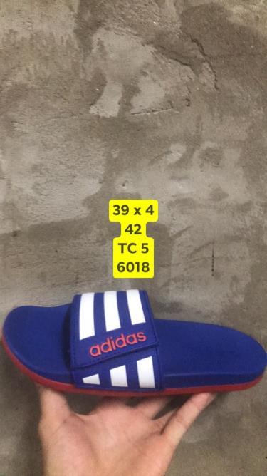 Hàng Chính Hãng Dép Adidas CF Slides Stripes Blue/Red
