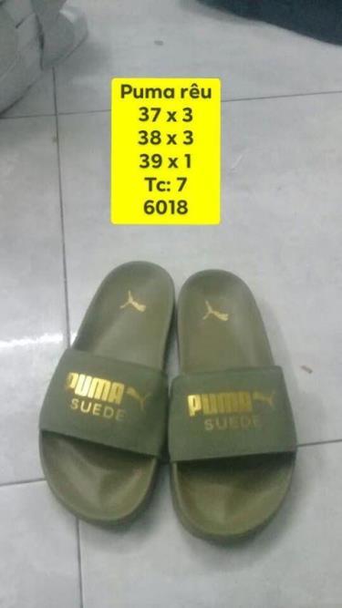 BEST SELLER  Dép Puma Suede Leadcat Sandals Dark Green  ZZZ 2020**