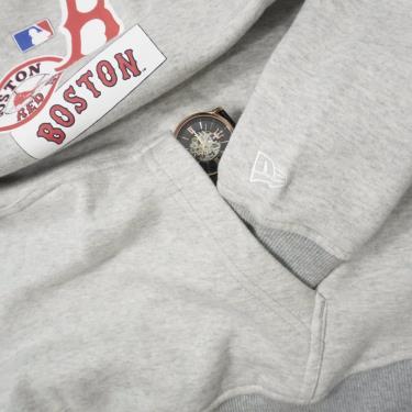 Hàng Chính Hãng Áo Hoodie New Era Light Grey/Boston LOGO 2020**
