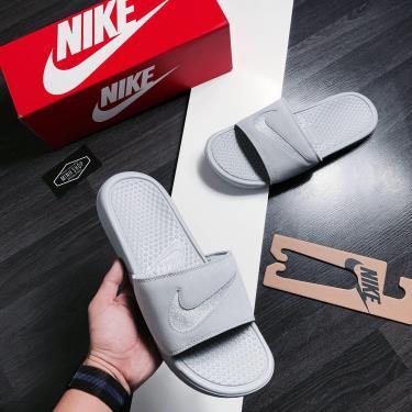 Hàng Chính Hãng Dép Nike Benassi JDI Leather Grey 2020**