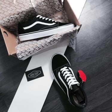 Hàng Chính Hãng Vans Old Skool Black/White/Red LOGO  2020** Best Seller**