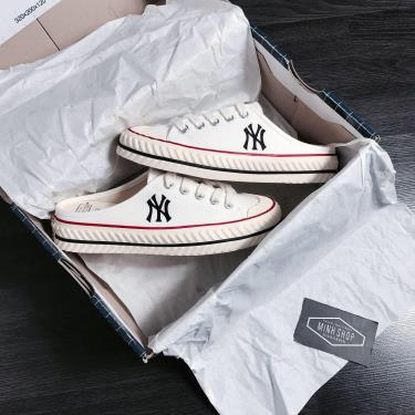 sale35%Hàng Chính Hãng MLB PlayBall Origin Mule York Yankees Shoes White 2021**