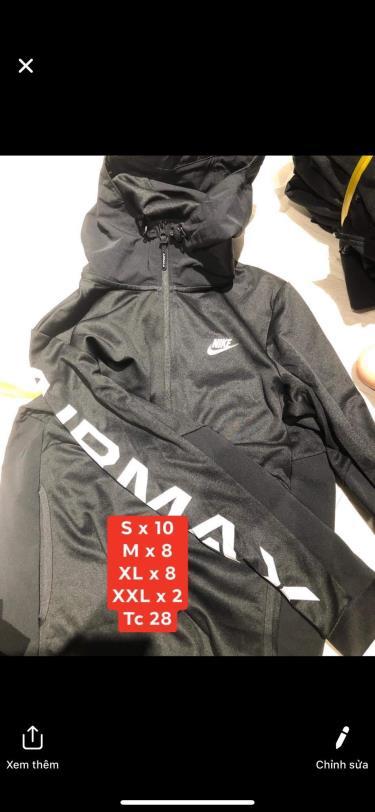 Hàng Chính Hãng Áo Khoác Nike Airmax Black 2019**