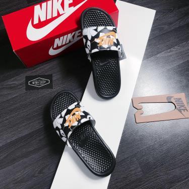 Hàng Chính Hãng Dép Nike Benassi JDI Print Black /White/Yellow 2020**