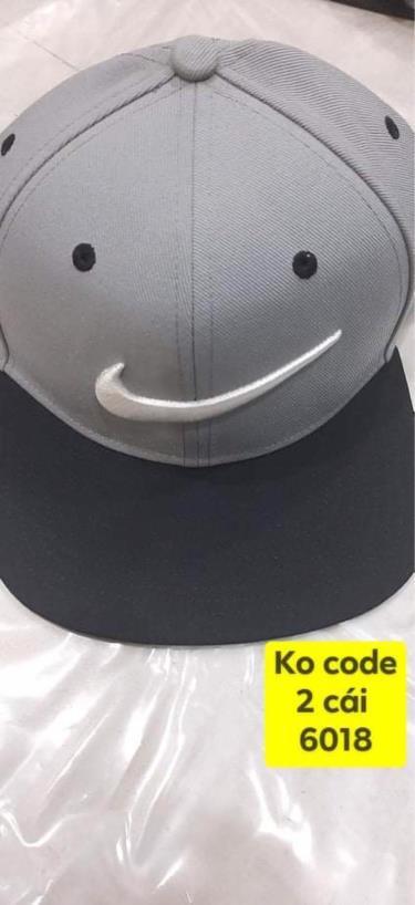 Hàng Chính Hãng Nón Nike Snapback Grey/Black/White logo 2020**