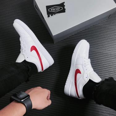 SUPER DEAL 3xxx Hàng Chính Hãng Nike Air Jordan 1 Low White University Red 2021** V [[O]