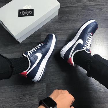 Hàng Chính Hãng Nike Air Force 1 '07 LV8 Navy/White/Red 2020***