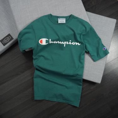 Hàng Chính Hãng Áo Thun Champion Printed Script Logo Green  2020**