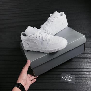 Hàng Chính Hãng Nike Jordan 1 Low White GS 2021**