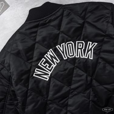 Hàng Chính Hãng Áo Khoác New Era New York Yankees Diamond Quilted Jacket Black 2021**