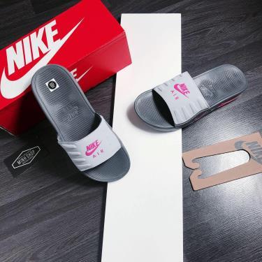Hàng Chính Hãng Dép Nike Air Max Camden Grey/Black Pink 2020**