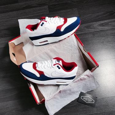 Hàng Chính Hãng Nike Air Max 1 White Red Blue 2020**