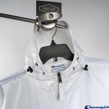 Hàng Chính Hãng Áo Khoác Champion Packable Jacket White Small LOGO 2021**